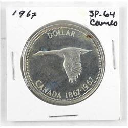 1967 Canada Silver Dollar. SP-64. Cameo