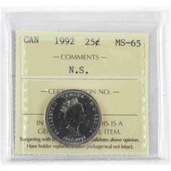 NOVA SCOTIA 25 Cent. MS-65. ICCS
