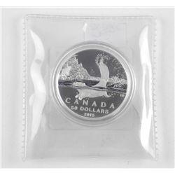 .999 Fine Silver 2015 $50.00 Coin 'Beaver'