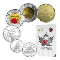2018 ARMISTICE Coin Set with Poppy Toonies