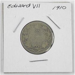 1910 Edward Silver 25 cent