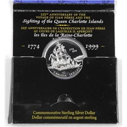 1774-1999 925 Silver Dollar Coin with Display