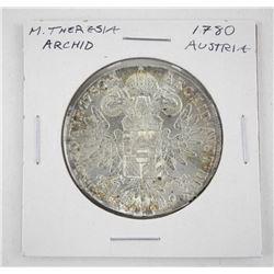 1780 Austria - M. Theresia Archid Silver Restrike