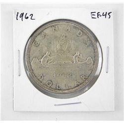 1962 Canada Silver Dollar. EF-45