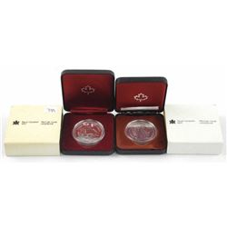 Lot (2) Cased Silver Dollars - 1979 and 1980