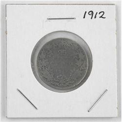 1912 Edward Silver 25 cent