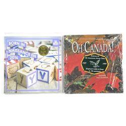 Lot (2) RCM Gift - Coin Set Folios, OH CANADA 1987