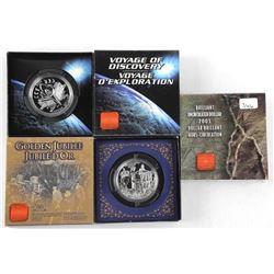 Lot (3) RCM UNC 925 Silver Dollars: 2000, 2002, 20