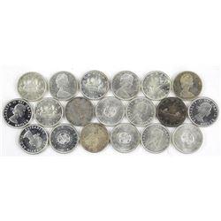 Lot (19) Canada Silver Dollar. Mixed.