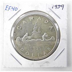 1959 Canada Silver Dollar EF40.