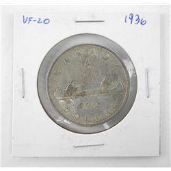1936 Canada Silver Dollar VF20.