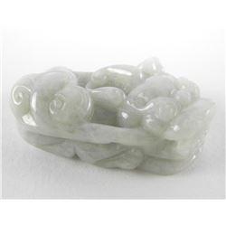 137.32ct Carved Jadeite Pendant. Lucky Animal Desi