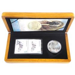 Walrus and Calf - Coin and Stamp Set .9999 Fine Si