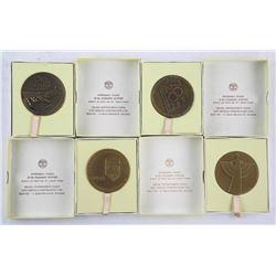Lot (4) Israel State Medal Cased