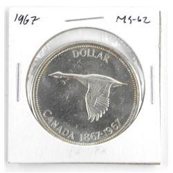 1967 Canada Silver Dollar. MS62.