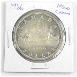 1966 Canada Silver Dollar. MS60. Cameo