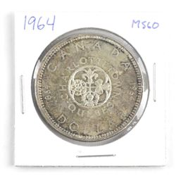 1964 Canada Silver Dollar. MS60.