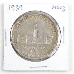 1939 Canada Silver Dollar. MS63