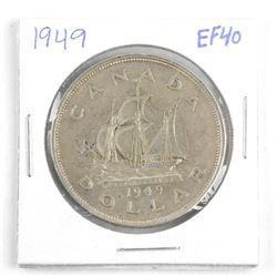 1949 Canada Silver Dollar. EF40