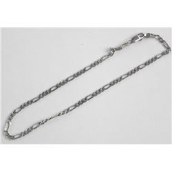 Estate 925 Silver Figaro Link Bracelet