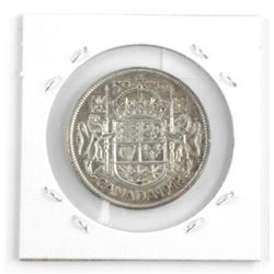 1942 Canada Silver 50 Cent Coin