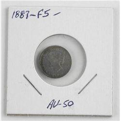 1887 F5 Silver Canada 5 Cent (KXR)
