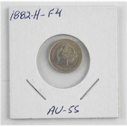 1882H - F4 Silver Canada 5 Cent (OIE)