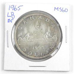 1965 Canada Silver Dollar. MS60. LB-B5