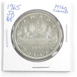 1965 Canada Silver Dollar. SB-B5 Cameo MS60