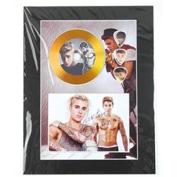 Justin Bieber Gold edition Guitar Pick Display