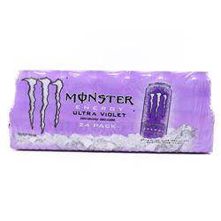 (1) Case (24) Cans - Monster Energy Drink ultra Violet Zero Calories/Zero Sugar