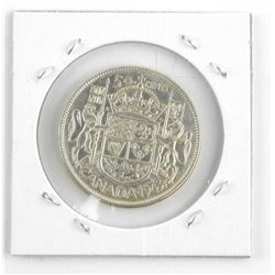 1943 Canada Silver 50 Cent Coin