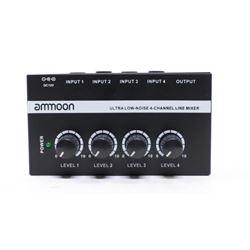 ammoon MX400 Ultra-compact Low Noise 4 Channels Li