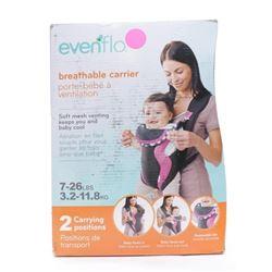 Evenflo Breathable Carrier Marianna- Pink- Black-