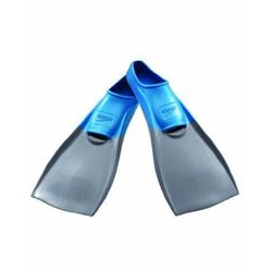 Speedo Rubber Training Swim Fins- Grey/Blue- Mediu