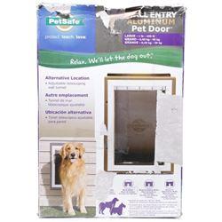 PetSafe Wall Entry Aluminum Pet Door with Telescop