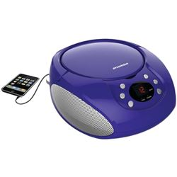 Sylvania Portable CD Boombox with AM/FM Radio- Pur