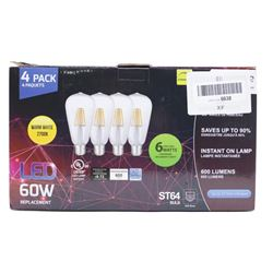 4 PACK LED 6WATTS 60W Replacementξ