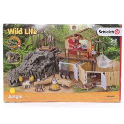 Schleich Wild Life Croco Jungle Research Station T