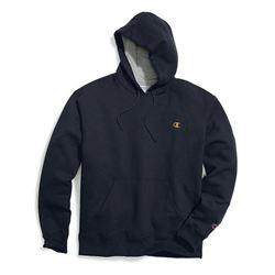 Champion Men's Powerblend Pullover Hoodie- Navy/Te