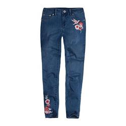 Levi's Baby Girl's 710 Embroidered Jean- Clean Blu