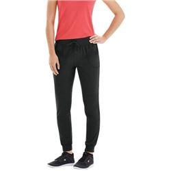 Champion Women's Jersey Pocket Pant- Black- Small