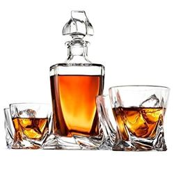 5-Piece European Style Whiskey Decanter and Glass