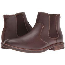 Dockers Men's Badger Chelsea Boot- Red/Brown- 7.5