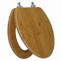 Topseat Elongated Toilet Seat with Nature Bamboo D