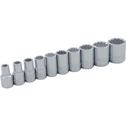 Gray Tools 15110 10 Piece 1/4-Inch Drive- 12 Point