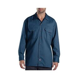 Dickies Men's Long Sleeve Work Shirt- Navy- Small