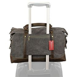 Weekender Duffel Bag Travel Tote - Canvas Genuine