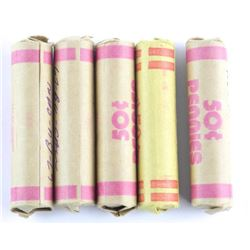 Lot (5) Rolls 'BU' 1967 Canada One Cent
