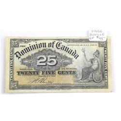 (LUN 18) Dominion of Canada 1900 Twenty Five Cent